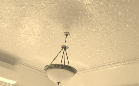 grapevine ceiling painted antique yellow